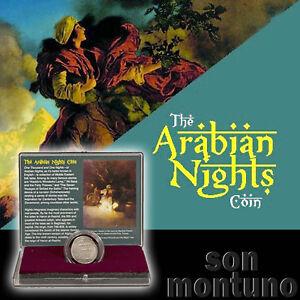 ARABIAN-NIGHTS-ISLAMIC-SILVER-COIN-Box-amp-COA-Harun-al-Rashid-Baghdad-IRAQ