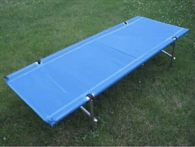blueE Camp  Time Roll-a-Cot 5109556 Compact Hiking Portable Camping EUC  buy cheap new