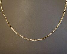 """ORO Giallo 9 carati catena di 20.75"""" M. (larghezza 1mm)"""