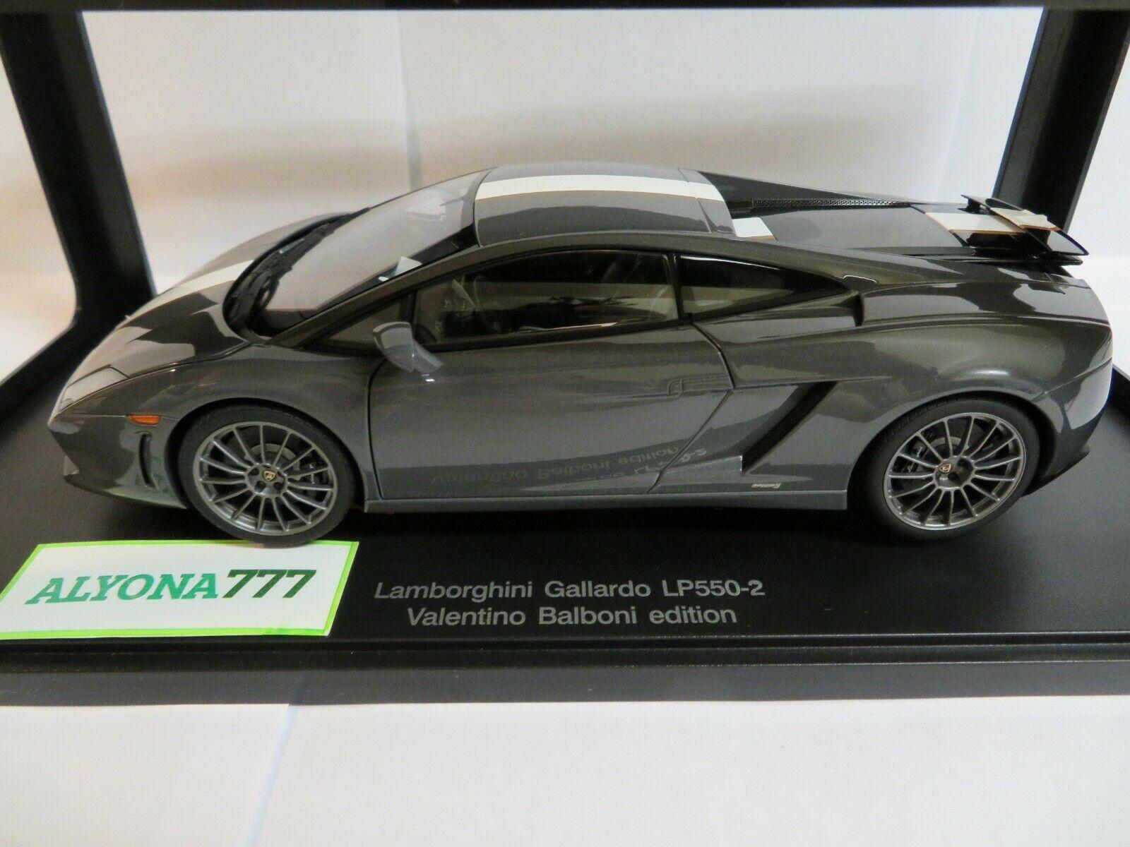 AUTOart 1 18 Lamborghini Gallardo Valentino Balboni Edition grau CAR MODEL NEW