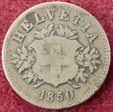 Switzerland 20 Rappen 1850 BB (D2004)