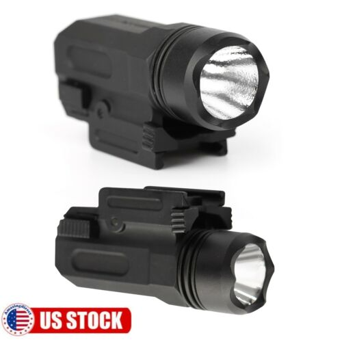 Details about  /2 Pack Tactical Pistol LED Gun Flashlight Torch Light for 20mm Picatinny Rail US