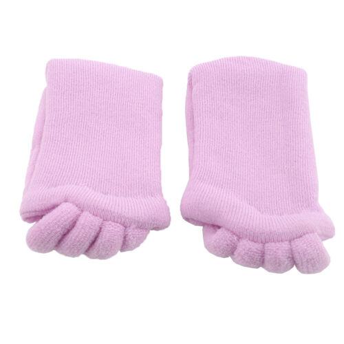 Women Lady Toe Socks Massage Foot Alignment Socks Cotton Spandex Comfy