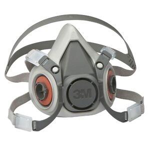 3m protection respiratoire Demi-masque 6200 gaz Masque caoutchouc ... 6c2c5928f1a3