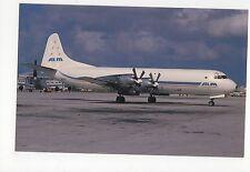 ALM - Antillean Airways Lockheed L.188 at Miami Aviation Postcard, A637