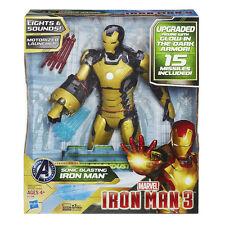 Marvel Sonic Blasting Iron Man 3 Action Figure Glow in the Dark Armor