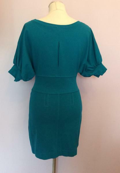780c6270ceba ... BRAND NEW NEW NEW FRENCH CONNECTION TURQOUISE ZIP TRIM DRESS SIZE 12  53a7f1