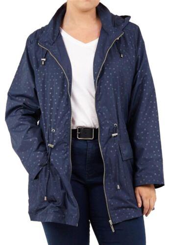Womens All-Over Spot Print Polyester Mac Lightweight Waterproof Raincoat Jacket