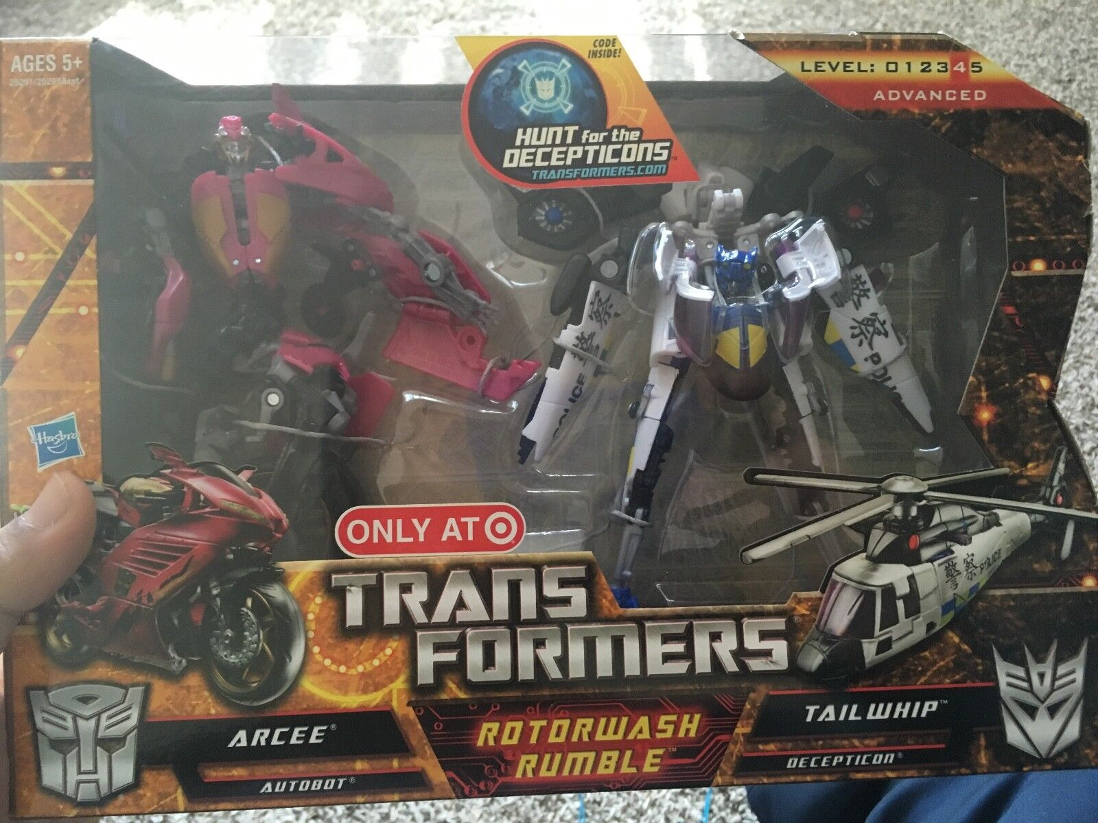 Transformers Target Exclusive   redorwash Rumble  Set MISB Arcee Tailwip