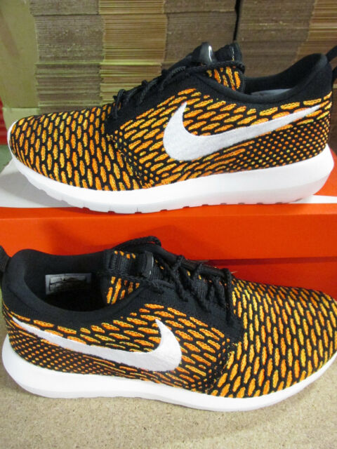 de45c96e8ec Nike Roshe NM Flyknit One Run Black Orange Men Running Shoes SNEAKERS  677243-018 10