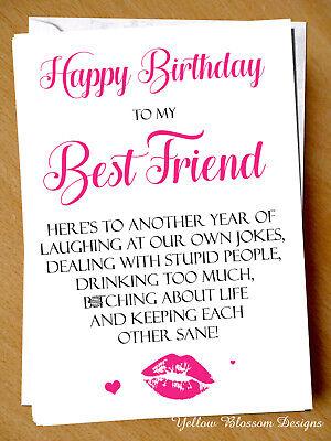 Best friend personalised birthday card A5 greetings card
