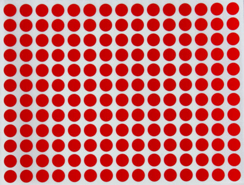 "Dot Sticker ~ ¼"" Inch Color Coded 8mm Labels Permanent Adhesive Dots 900 Pack"