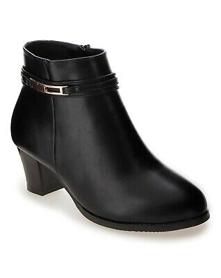 CUSHION WALK Black Ankle Boots Extra
