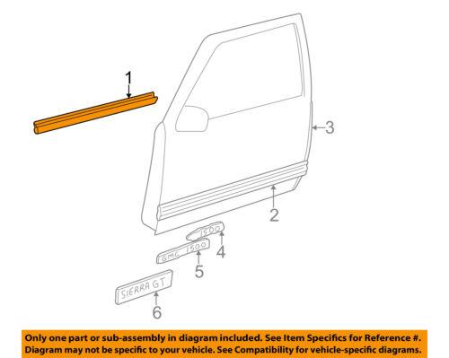 GM OEM Front Door Window Sweep-Belt Molding Weatherstrip Right 15991406