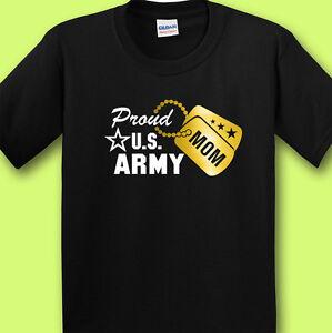 ca823729 Proud Army Mom Black T-shirt Tee Design w/ Metallic Gold Military ...