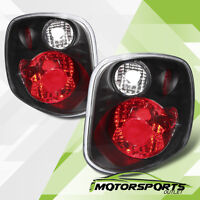 2001 2002 2003 Ford F-150 Flareside Black Rear Brake Tail Lights Pair on Sale