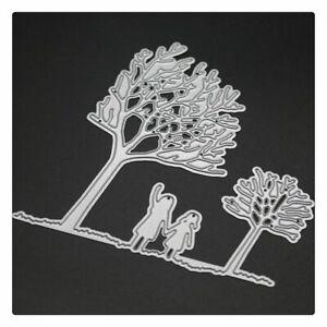 Metal-Cartoon-Girl-Under-Tree-Cutting-Die-DIY-Embossing-Stencil-Template-Molds
