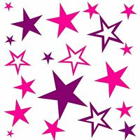 *80 Sterne Mix-Set Zwei-Farben Auswahl Aufkleber Sticker Wandtattoo Fenster Deko