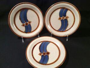 "Lot 3 International Kaleido Japan ""Milkyway"" Stoneware Salad Plates - Very Good"