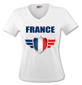 t shirt femme france coupe du monde de football 2018 ebay. Black Bedroom Furniture Sets. Home Design Ideas
