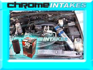 96 97 98 99-05 CHEVY S10//BLAZER//SONOMA//JIMMY 4.3L V6 COLD AIR INTAKE HS BLUE+K/&N