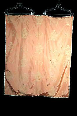 Vintage 1930's Pfirsich Rosa Filz Bestickt Baby Decke 36 Von 45'
