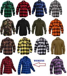 7e25fec0af5a Image is loading Rothco-Flannel-Shirts-Heavyweight-Brawny-Buffalo-Plaid -Flannel-
