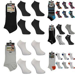 6-X-Paires-Homme-Sneaker-Cheville-Liner-quart-Cheville-Chaussettes-De-Sport-Gym-Adultes-UK-6-11