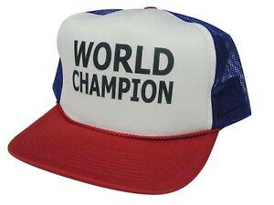 34c88768c16f0 Image is loading WORLD-CHAMPION-Trucker-Hat-mesh-hat-snap-back-