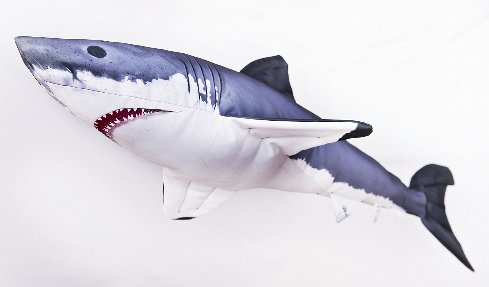 The Great Weiß Shark 120cm  Giant Jaws. GABY SOFT TOY FISH PILLOW 47INCH long