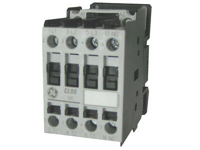 GE CL04A310MJ 3 pole 54 AMP contactor with a 120 volt AC coil and 1 NO contact