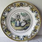 Antico piatto decorativo ceramica MONTEREAU Assiette -