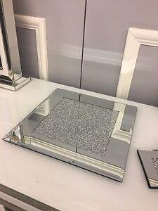 Image is loading Diamond-Glitz-Sparkly-Crushed-Crystal-Mirrored-Glass-Candle - & Diamond Glitz Sparkly Crushed Crystal Mirrored Glass Candle Plate ...