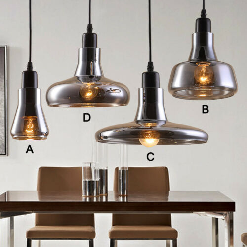 Modern Pendant Light Kitchen Lamp Glass Ceiling Lights Wood Chandelier Lighting