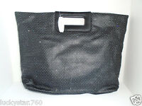 Victoria's Secret Large Black Glitter/shimmer Handle Tote Bag