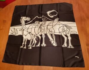 Vintage-Cesar-Manrique-Scarf-Shawl-1977-Camels-Made-in-Italy