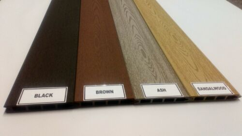BLACK  Composite fence boards SAMPLE