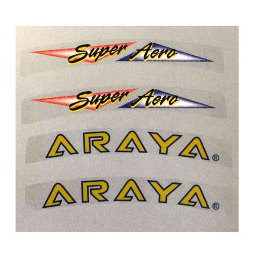 Araya Super Aero replacement decals for one rim 4 decals.
