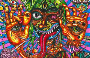 framed print psychedelic lsd acid trip hallucinations colourful