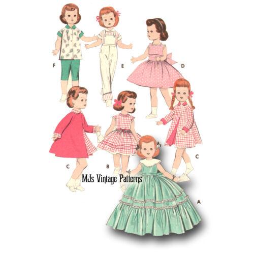Vtg Toddler Doll Clothes Pattern Formal Dress, Coat ~ 21 22 23 Saucy Walker