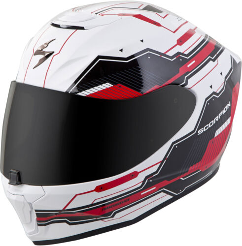 White//Red Choose Size Scorpion EXO-R420 TECHNO Full-Face Motorcycle Helmet