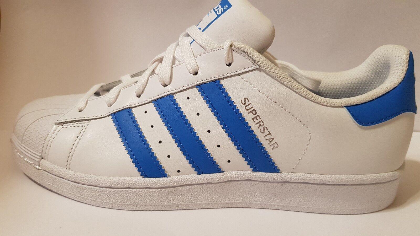 Adidas originals superstar s75929 turnschuhe schuhe skate board weiß - blau us7.5-11