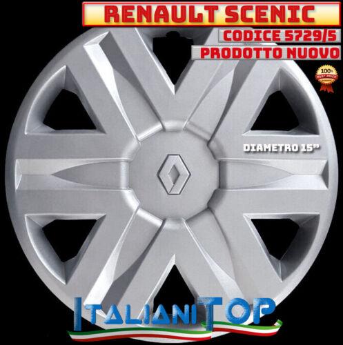 "RENAULT SCENIC QUATTRO COPRICERCHIO BORCHIA 5729//5 Diametro 15/"" PROD NUOVO 4"