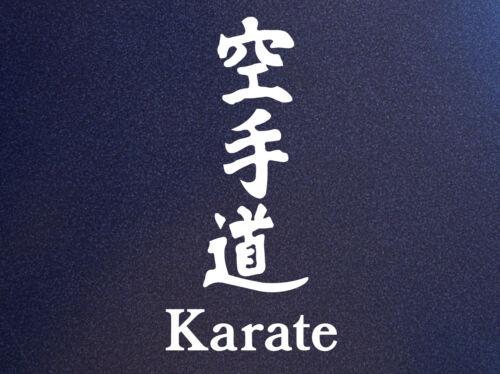 KARATE 空手 Ryukyu Japanese Kanji MMA Mixed Martial Arts Car Bumper Sticker Decal