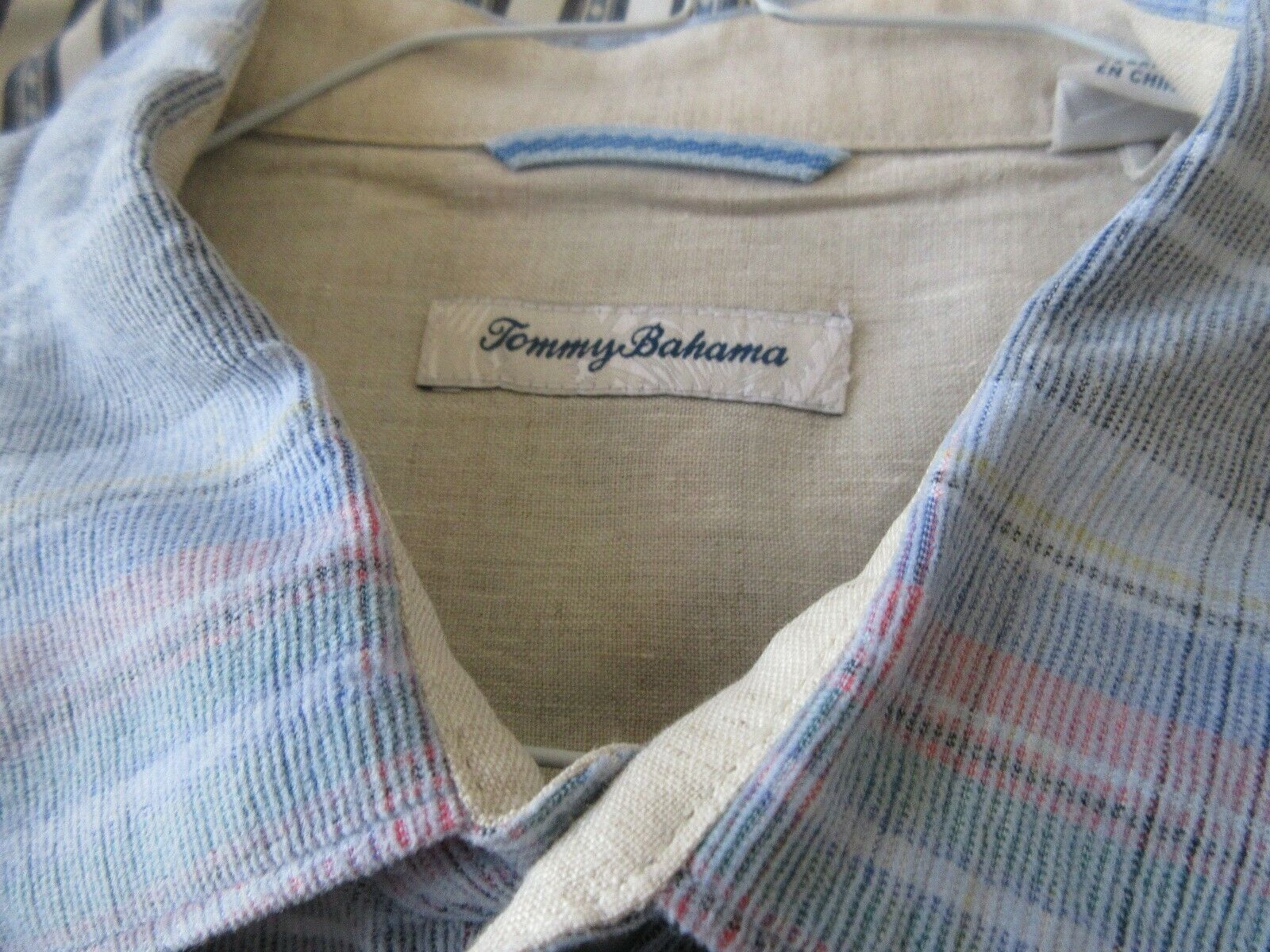 Tommy Bahama , XL/TG , 100% Cotton , Blue with Multi Co