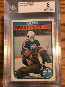 1982-O-Pee-Chee-105-Grant-Fuhr-Rookie-BGS-8-NM-MT