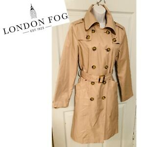 London Fog Trench Coat Size Small Ebay