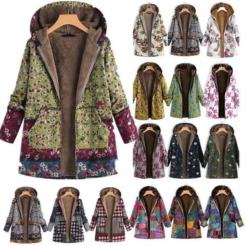 Lady Style Fleece Fluffy Hoodie Faux Fur Hooded Teddy Jacket Coat Outwear Tops