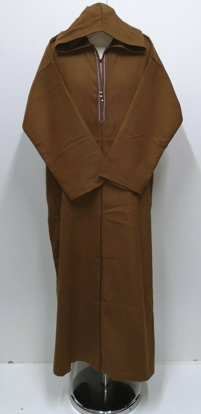 Size-54  Men Mgoldccan  long sleeves winter wool hooded  thobe Djelleba.JUBBA-NEW