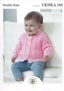 Vat Free Hand Knitting Pattern Only Dk Baby Child Cardigan Sweater